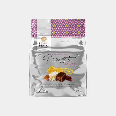 Assorted Almond Honey Nougat And Chocolate Cranberry Nugu Pouch 150G