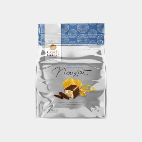 Chocolate Coated Macadamia Honey Nougat 150G