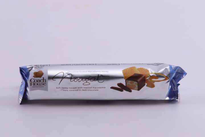 Chocolate Coated Macadamia Honey Nougat Bar 50G image