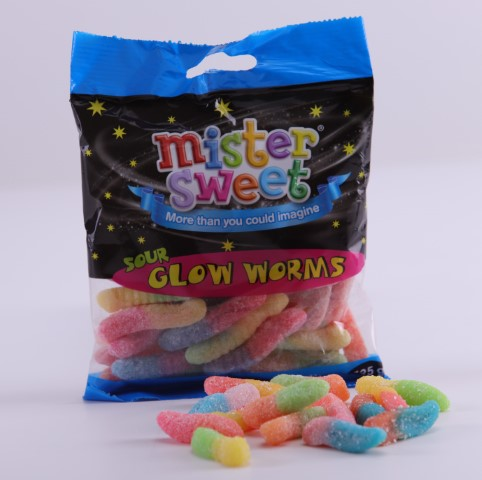 Sour Glow Worms  125G image