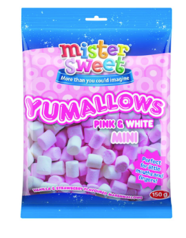 Mini Pink & White Yumallows 150G