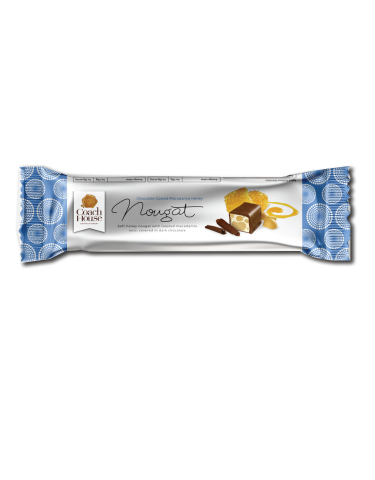 Chocolate Coated Macadamia Honey Nougat Bar 50G
