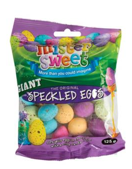 Giant Speckled Eggs 125G