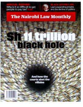 The Nairobi Law Monthly July 2019 Vol. 11 Issue No. 4
