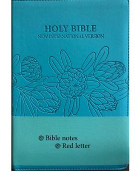 Niv Leather  Look Bible Aqua Blue Protea SA